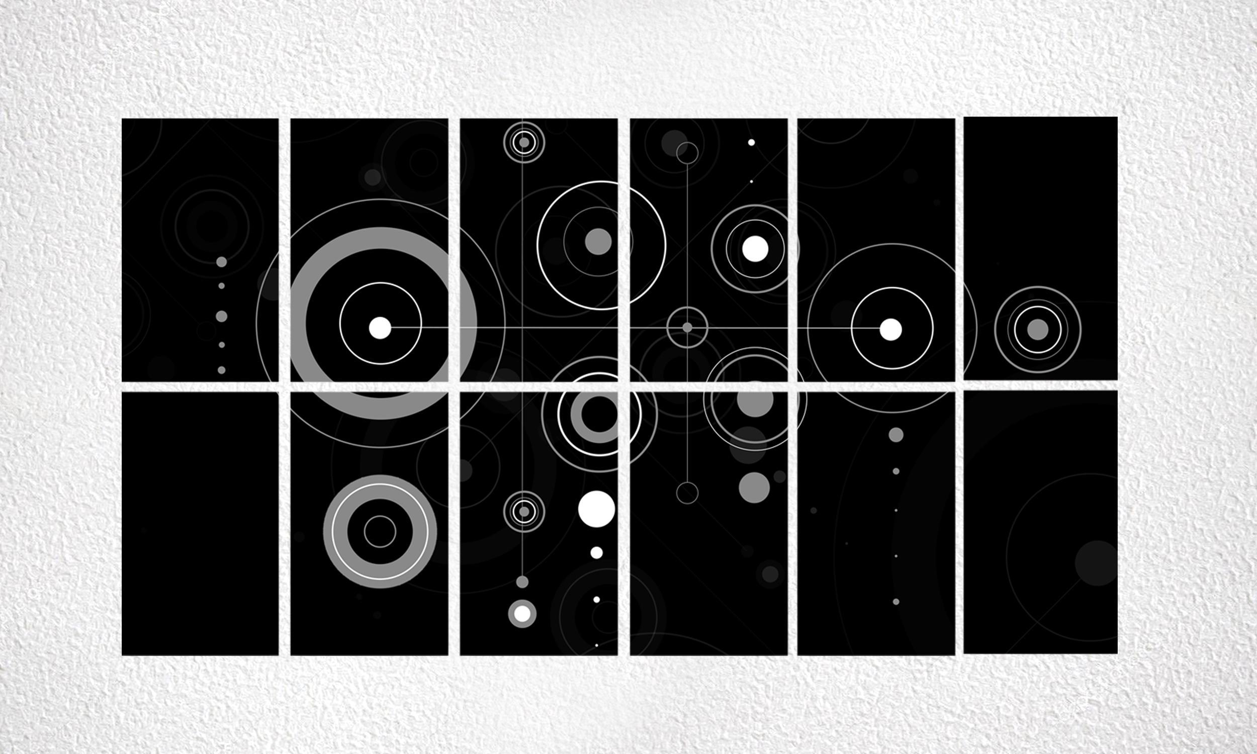 """Composizione """"Circles"""" 12 mod da 250 Wp"""