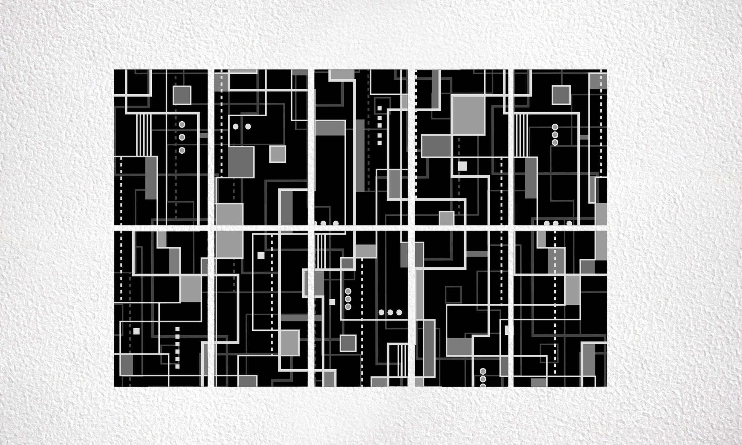 "Composizione ""Bauhaus"" 10 mod. da 250 Wp"