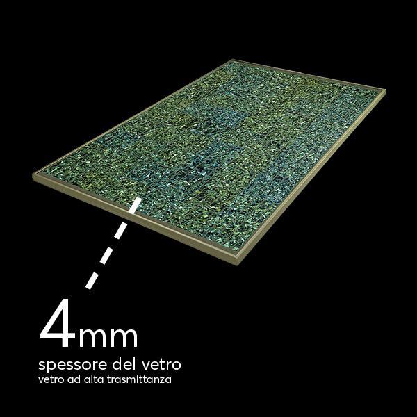 pannello invent color verde acqua steso