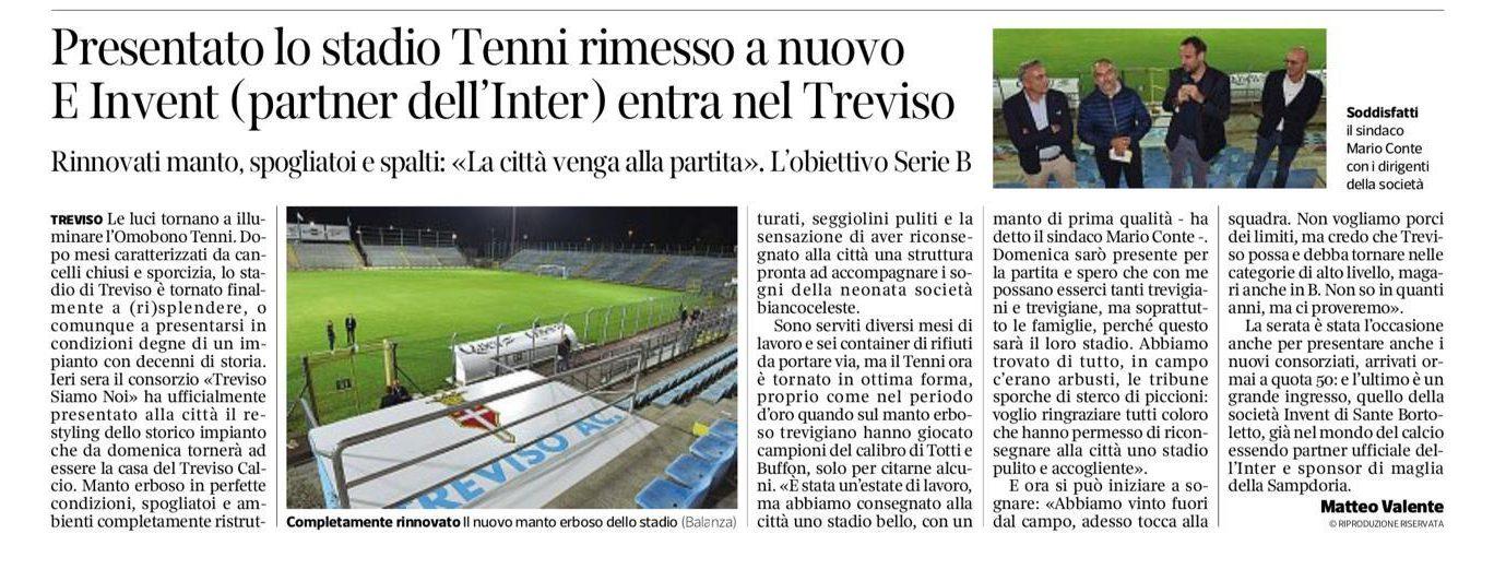 Invent nuovo partner del Treviso Calcio